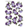 3D ark roseranker i lilla farver passer til arket med tekst