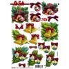 3D ark juleklokker / julekugler udstanset