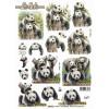 3D ark Panda udstanset
