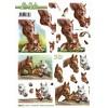 3D ark heste udstanset