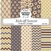 Felicita Design papirblok Kick off Scoccer 30 ark 15,2 x 15,2 cm.
