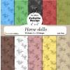 Felicita Design papirblok Horse skills 30 ark 15,2 x 15,2 cm.