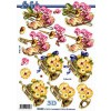 3D ark tuba og blomster