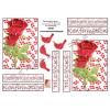 3D ark konfirmation røde roser