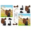 3D ark hest og rideudstyr