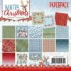 Yvonne Design papirblok 24 ark 15,2 x 15,2 cm. Wintry Christmas