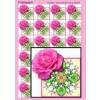 Foldepapir firkantet rose