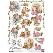 3D ark bamser og baby
