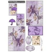 Easy Card blomst og paraply