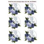 3D ark roser i grå / blå farver med tekst