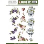 3D ark violer udstanset