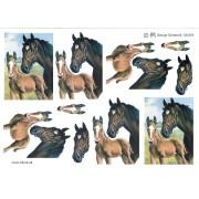 3D ark hest med føl