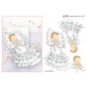 3D ark barnedåb pige A5