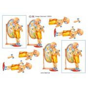 3D ark mand med håndvægte