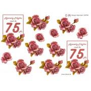 3D ark 75 år gammel rosa roser