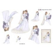3D ark brudepar A5
