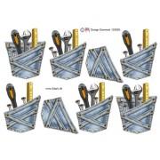 3D ark lomme med værktøj