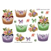 3D ark cupcakes