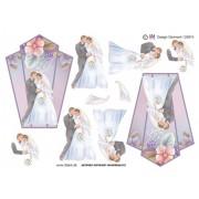 3D ark brudepar