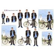 3D ark konfirmation dreng med cykel