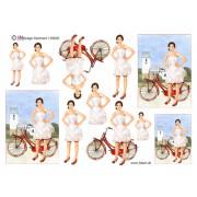 3D ark konfirmation pige med cykel