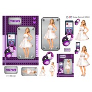 3D ark konfirmation pige med ipod