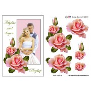 3D ark brudepar med roser A5