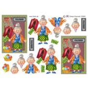 3D ark ældre dame