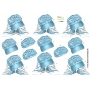3D ark konfirmation kasket og converse støvle blå