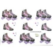 3D ark rulleskøjter pink og lilla