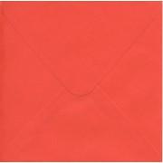 Kuvert 14 x 14 cm rød med spidslukning
