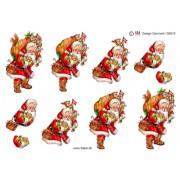 3D ark julemand med gavesæk