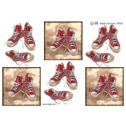 3D ark converse sko røde