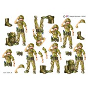 3D ark soldat pige