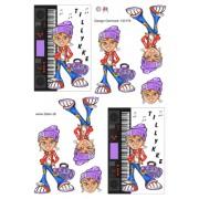 3D ark pige med keyboard