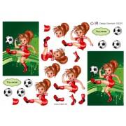 3D ark fodbold pige