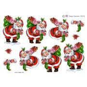 3D ark julemand med stor gavesæk