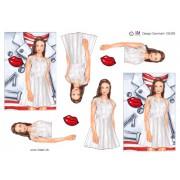 3D ark konfirmation pige med læderjakke i baggrunden