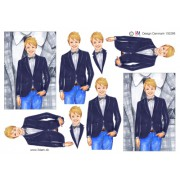3D ark konfirmation dreng med ternet jakke i baggrunden