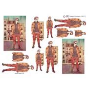 3D ark dreng med hue og solbriller