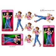3D ark stor mobil med pige