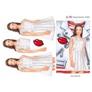 3D ark konfirmation pige med læderjakke i baggrunden - A5