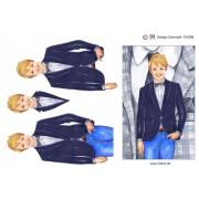 3D ark konfirmation dreng med ternet jakke i baggrunden - A5