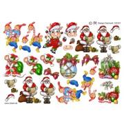 3D ark forskellige små julemotiver
