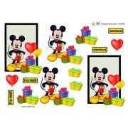 3D ark Mickey med balloner og gaver