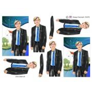 3D ark konfirmation dreng ved kirke