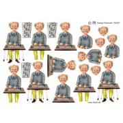 3D ark ældre mand til banko