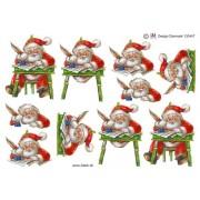 3D ark Julemand skriver artigliste