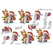 3D ark Julemand og Rudolf med liste
