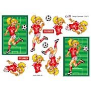 3D ark  Fodbold pige der dribler